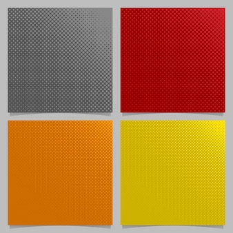 Contexto de fundo de padrão de ponto de retalho abstrato retro - desenhos quadrados de folhetos quadrados de círculos em tamanhos variados