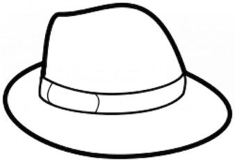Contorno chapéu