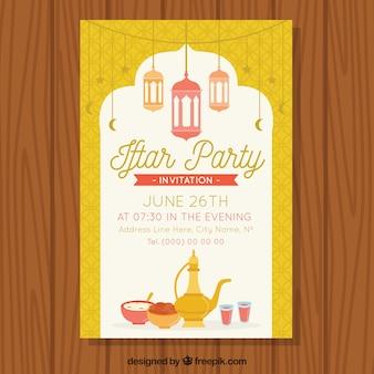 Convite agradável do partido do iftar