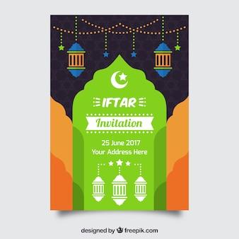 Convite colorido do iftar