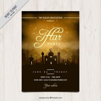 Convite da festa bonita iftar