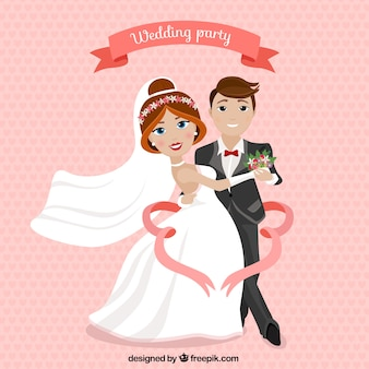 Convite da festa de casamento