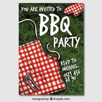 Convite da festa de churrasco