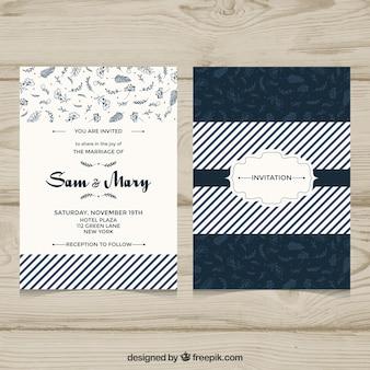 Convite de casamento com estilo elegante