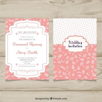 Convite de casamento com um lindo estilo