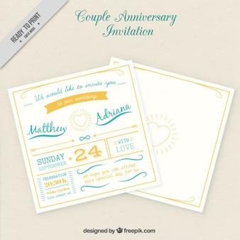 Convite do aniversário casal