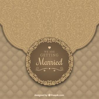 Convite do casamento com ornamentos