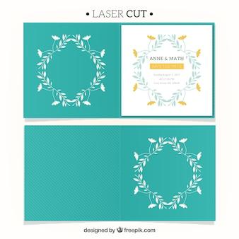 Convite elegante com corte a laser