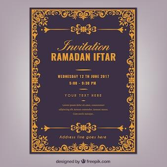 Convite elegante de iftar ramadan