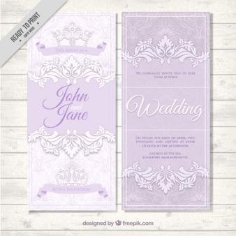 convite elegante do casamento com mão desenhada folhas ornamentais