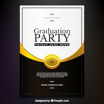 Convite elegante do partido de graduação