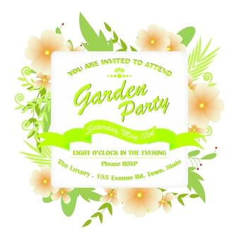Convite floral do partido