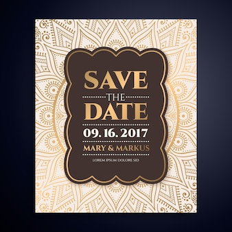 Convite luxuoso do casamento