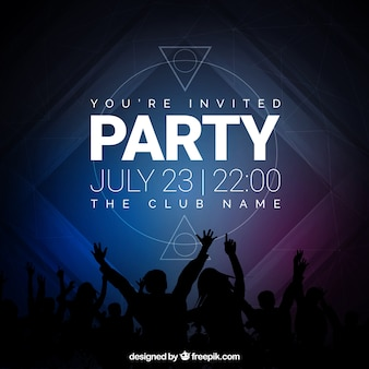 Convite para festa, tons escuros