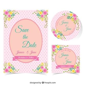 Convite Rosa do casamento