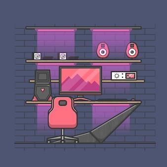 Cool design da sala de videogames