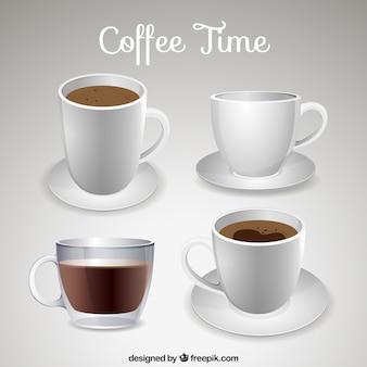 Copos de café realistas