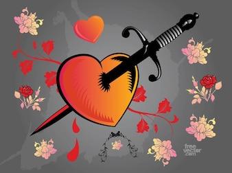 Coração trespassado pela espada