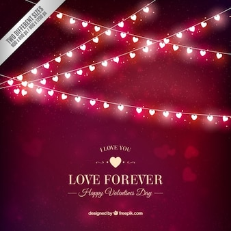 Corações brilhantes guirlandas valentine