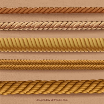 Cordas em formas espirais
