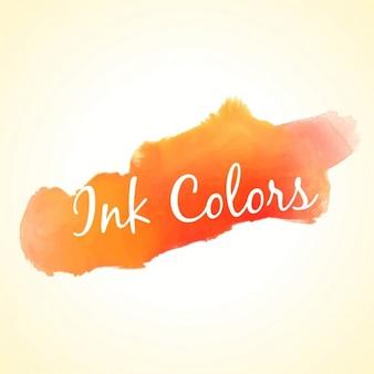 cores laranja tinta