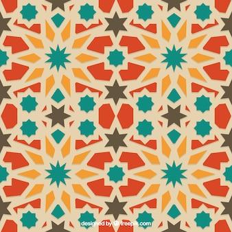 Cores teste padrão geométrico árabe