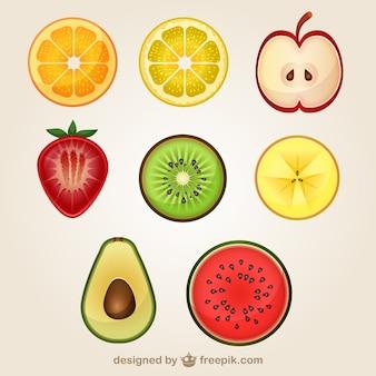 Cortado pacote frutas