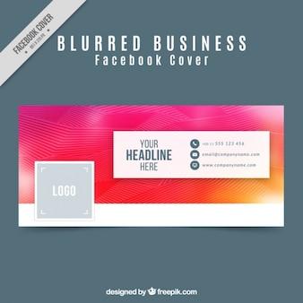Cover Abstract facebook com linhas