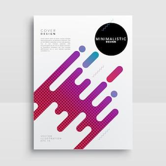 Cover Design abstrato moderno da bolha