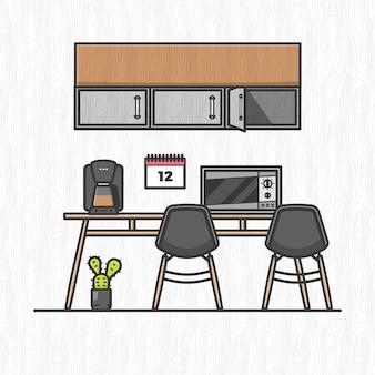 Cozinha de escritório
