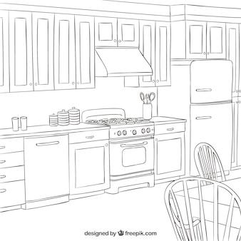 Cozinha esboçado