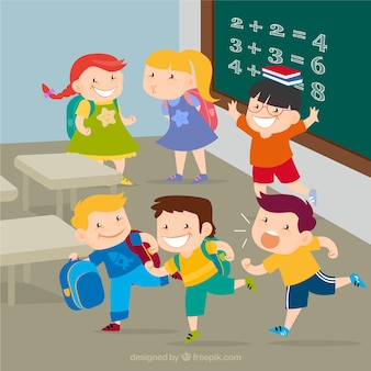 Crianças felizes na escola