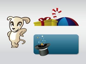 Crianças pacote vector caráter logotipo