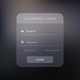 Criativo modelo de design formulário de login escuro
