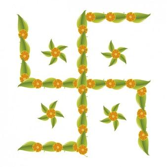 Cruz floral Hindu