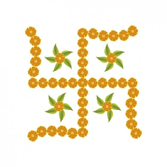Cruz floral Hinduísmo