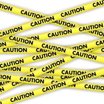 Cuidado Fitas amarelas