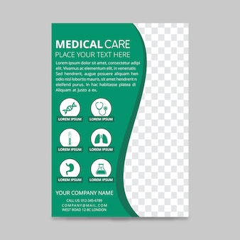 Cuidados médicos panfletos