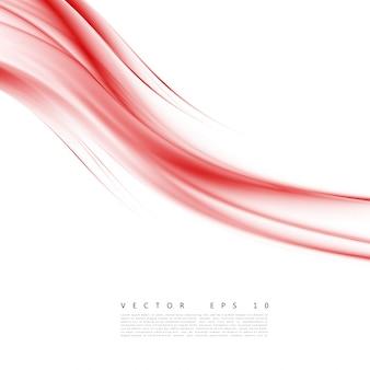 Curva de fundo vermelho