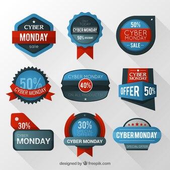 Cyber segunda feira emblemas coleção
