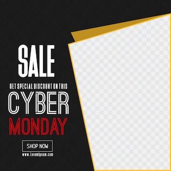 Cyber Monday Big Venda e lugar para imagem