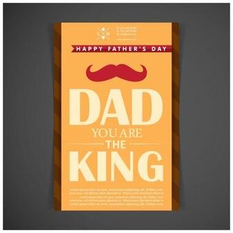 Dad Você é o cartaz rei pai Dia
