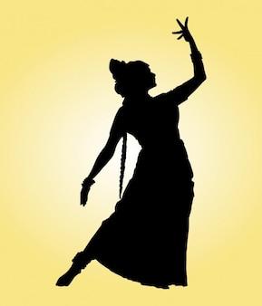 Dançarino indiano da silhueta