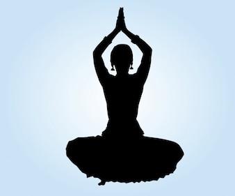 Dançarino indiano Lotus Position