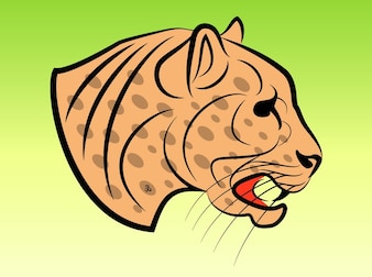 Dangerous Jaguar ilustração vetorizada
