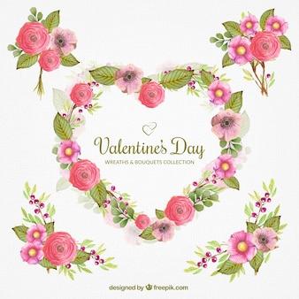 Decoração floral bonito para Dia dos Namorados