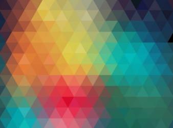 Decorativo colorido abstrato vector set geométrica