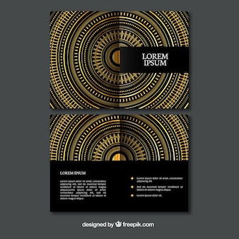 Decorativo dourado círculos panfleto
