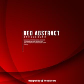 Decorativo fundo vermelho com formas onduladas