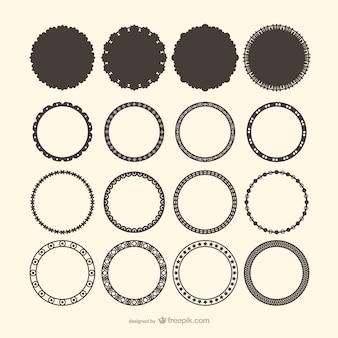 Decorativos vetores círculo de quadro